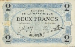 2 Francs  MARTINIQUE  1915 P.11 TTB