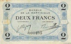 2 Francs MARTINIQUE  1915 P.11 TTB