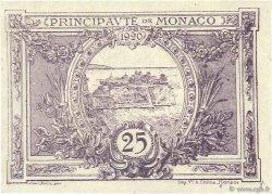 25 Centimes MONACO  1920 P.02c SUP+