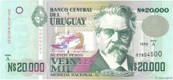 20000 Nuevos Pesos URUGUAY  1989 P.069a pr.NEUF