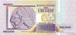 1000 Nuevos Pesos URUGUAY  1989 P.067A pr.NEUF