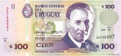 100 Pesos Uruguayos URUGUAY  1997 P.076b SPL