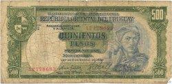 500 Pesos URUGUAY  1967 P.044b AB