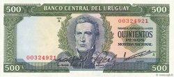500 Pesos URUGUAY  1967 P.048a