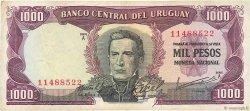 1000 Pesos URUGUAY  1967 P.049a TTB