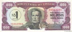 1 Nuevo Pesos sur 1000 Pesos URUGUAY  1975 P.055 NEUF