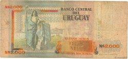 2000 Nuevos Pesos URUGUAY  1989 P.068a B
