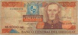 5000 Nuevos Pesos URUGUAY  1983 P.065a pr.B