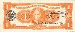1 Colon SALVADOR  1966 P.100a SUP