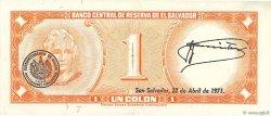 1 Colon SALVADOR  1970 P.110b TTB