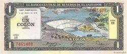1 Colon SALVADOR  1978 P.125a SPL