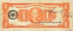 1 Colon SALVADOR  1956 P.090b TB