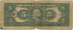 5 Colones SALVADOR  1944 P.084a AB
