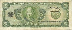 5 Colones SALVADOR  1976 P.126 TB