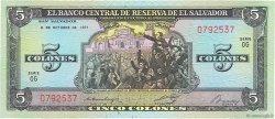 5 Colones SALVADOR  1976 P.126 NEUF