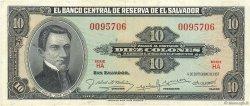 10 Colones SALVADOR  1957 P.096a TTB