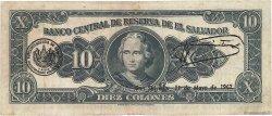 10 Colones SALVADOR  1959 P.099 TB