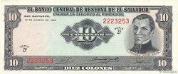 10 Colones SALVADOR  1968 P.112a SUP