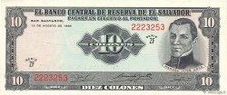 10 Colones SALVADOR  1968 P.112a SUP