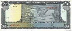 25 Colones SALVADOR  1983 P.136a NEUF