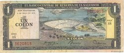 1 Colon SALVADOR  1977 P.125a TB