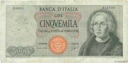 5000 Lire ITALIE  1964 P.098a TB