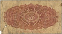 5 Francs GUADELOUPE  1942 P.21b B