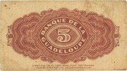 5 Francs GUADELOUPE  1942 P.21b TB