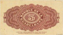 5 Francs GUADELOUPE  1942 P.21b TTB+