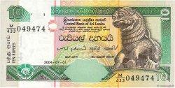 10 Rupees SRI LANKA  2004 P.115c TTB