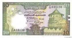 10 Rupees SRI LANKA  1989 P.096d pr.NEUF