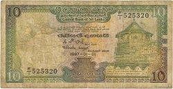 10 Rupees SRI LANKA  1987 P.096a B