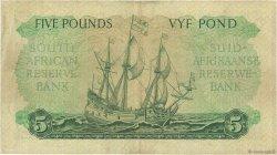 5 Pounds AFRIQUE DU SUD  1959 P.096c TTB+