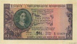 10 Pounds AFRIQUE DU SUD  1957 P.099 pr.SUP