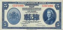 5 Gulden INDES NEERLANDAISES  1943 P.113a TTB+