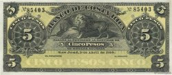 5 Pesos COSTA RICA  1899 PS.163r1 SPL