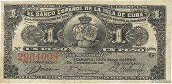 1 Peso CUBA  1896 P.047a TTB