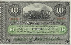 10 Pesos CUBA  1896 P.049c SUP
