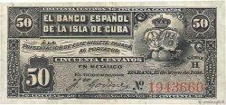 50 Centavos CUBA  1896 P.046a TTB
