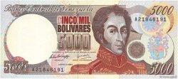 5000 Bolivares VENEZUELA  1994 P.075a NEUF