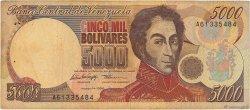 5000 Bolivares VENEZUELA  1996 P.075b B