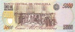 5000 Bolivares VENEZUELA  1996 P.075b pr.NEUF