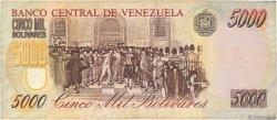5000 Bolivares VENEZUELA  1998 P.078c TB