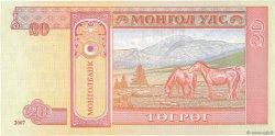 20 Tugrik MONGOLIE  2007 P.63d NEUF