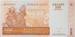2500 Francs - 500 Ariary MADAGASCAR  2014 P.88b NEUF