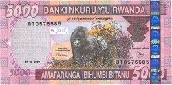 5000 Francs RWANDA  2009 P.37 NEUF