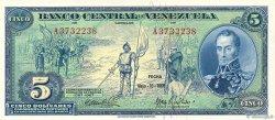 5 Bolivares VENEZUELA  1966 P.049 NEUF