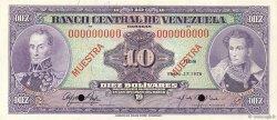 10 Bolivares VENEZUELA  1976 P.051s2 NEUF