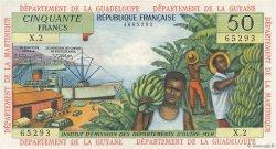 50 Francs ANTILLES FRANÇAISES  1966 P.09b SPL+