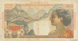 100 Francs La Bourdonnais GUADELOUPE  1946 P.35 TB